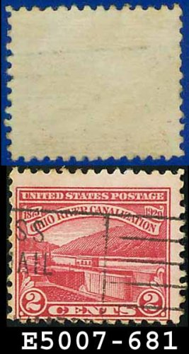 1929 USA USED Scott# 681 � 2c Ohio River Canal Lock � 1929 Commemoratives
