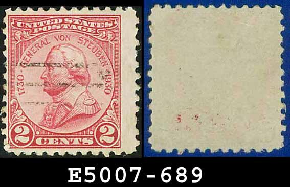 1930-31 USA USED Scott# 689 � 2c Von Steuben � 1930-31 Commemoratives