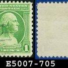 1932 USA USED Scott# 705 – 1c Washington – 1932 Washington Bicentennial Issue