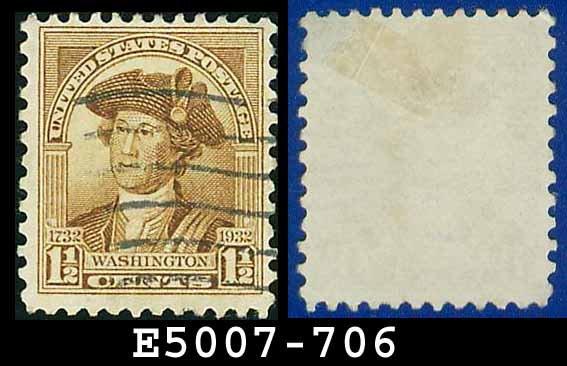 1932 USA USED Scott# 706 � 1 1/2c Washington � 1932 Washington Bicentennial Issue