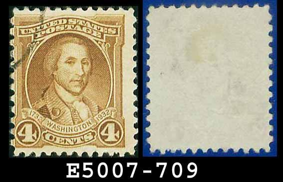 1932 USA USED Scott# 709 � 4c Washington � 1932 Washington Bicentennial Issue