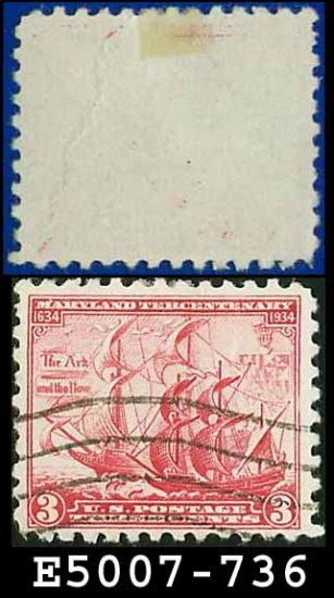 1934 USA USED Scott# 736 � 3c The Ark and the Dove � 1934 Commemoratives