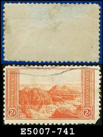 1934 USA USED Scott# 741 � 2c Grand Canyon � 1934 National Parks Issue