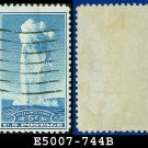 1934 USA USED Scott# 744 – 5c Yellowstone – 1934 National Parks Issue