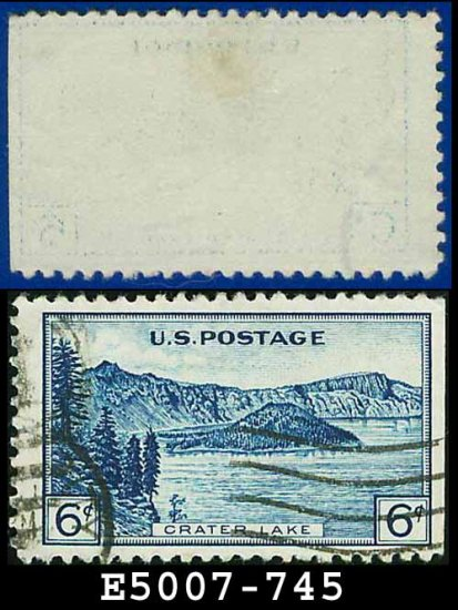 1934 USA USED Scott# 745 � 6c Crater Lake � 1934 National Parks Issue