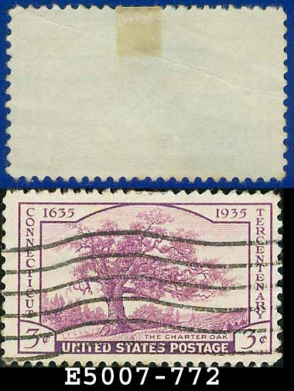 1935 USA USED Scott# 772 � 3c The Charter Oak � 1935 Commemoratives