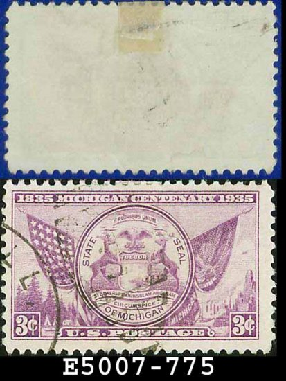 1935 USA USED Scott# 775 � 3c Mich State Seal � 1935 Commemoratives