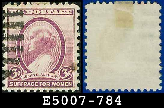 1936 USA USED Scott# 784 � 3c Susan B Anthony � 1936 Commemoratives