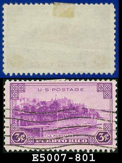 1937 USA USED Scott# 801 � 3c La Fortaleza � 1937 Commemoratives