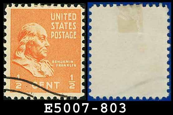 1938 USA USED Scott# 803 � 1/2c Franklin � 1938 Presidential Series