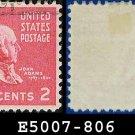1938 USA USED Scott# 806 – 2c John Adams – 1938 Presidential Series