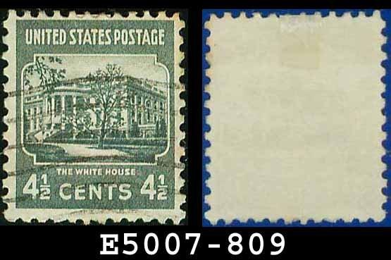 1938 USA USED Scott# 809 � 4 1/2c White House � 1938 Presidential Series