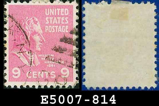 1938 USA USED Scott# 814 � 9c W H Harrison � 1938 Presidential Series