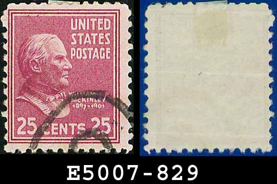 1938 USA USED Scott# 829 � 25c McKinley � 1938 Presidential Series