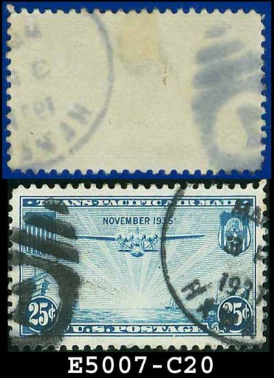 1935 USA USED Scott# C20 �25c China Clipper � Trans-Pacific Air Mail Issue