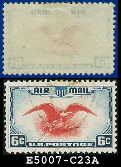 1938 USA USED Scott# C23 � 6c Red Eagle � Air Mail Stamp