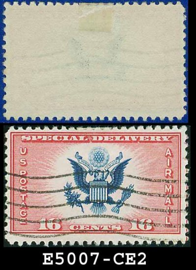 1936 USA USED CE2 � 16c Red & Blue Airmail Special Delivery Stamp