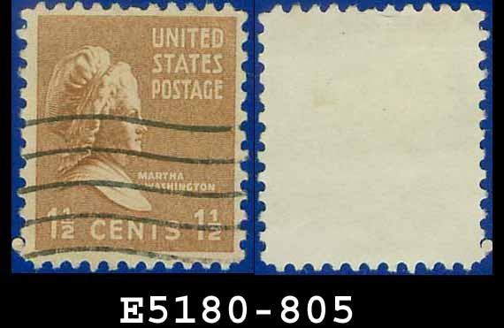 1938 USA USED Scott# 805 � 1 1/2c Martha Washington � 1938 Presidential Series