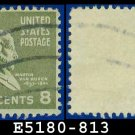 1938 USA USED Scott# 813 – 8c M Van Buren – 1938 Presidential Series
