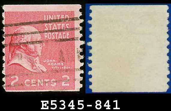 1938 USA USED Scott# 841 � 2c John Adams � 1938 Presidential Rotary Coil Series