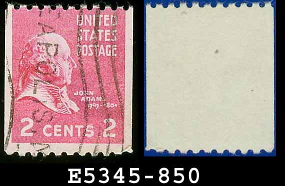 1938 USA USED Scott# 850 � 2c John Adams � 1938 Presidential Rotary Coil Series