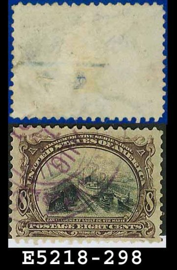 1901 USA USED Scott# 298 � 8c Canal at Sault Ste Marie � Pan-American Issue