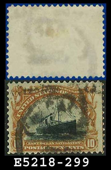 1901 USA USED Scott# 299 � 10c Fast Ocean Navigation � Pan-American Issue