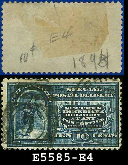 1894 USA USED E4 � 10c Blue Messenger on Bicycle - Special Delivery Issue
