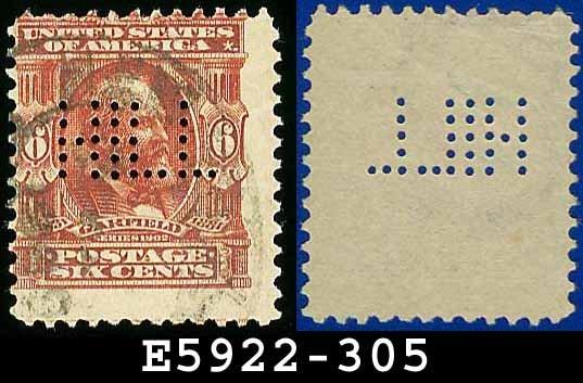 1902-03 USA USED Scott# 305 � 6c Garfield 20th US President � 1902-03 Regular Series Perf 12