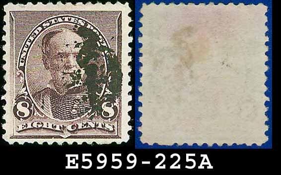 1890-93 USA USED Scott# 225 � 8c Lilac Sherman � 1890-93 Regular Issue