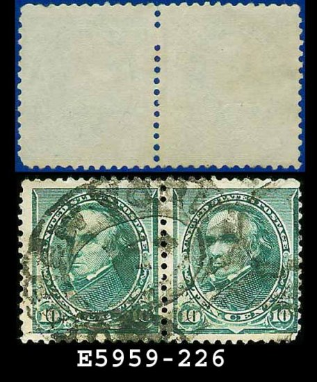 1890-93 USA USED Scott# 226 � 10c Green Webster PAIR� 1890-93 Regular Issue