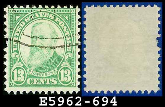 1931 USA USED Scott# 694 � 13c Harrison � 1931 Rotary Print Regular Issue