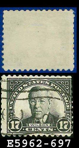 1931 USA USED Scott# 697 � 17c Wilson � 1931 Rotary Print Regular Issue