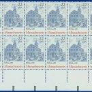 1987-90 USA UNUSED Scott# 2341 - 22c Massachusetts Partial Sheet of 20 Stamps – E4116