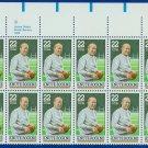1988 USA UNUSED Scott# 2376 - 22c Knute Rockne Partial Sheet of 20 Stamps – E4116