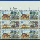 1989 USA UNUSED Sc# 2434-37 - 25c Classic Mail Transportation Partial Sheet of 24  – E4116