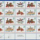 1992 USA UNUSED Scott# 2715-18 - 29c Traditional Christmas Partial Sheet of 20 stamps – E5592