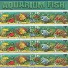1999 USA UNUSED Scott# 3317-20 - 33c Aquarium Fish Partial Sheet of 16 stamps – E2703