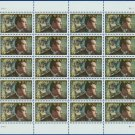 2000 USA UNUSED Scott# 3444 - 33c Thomas Wolfe Mini Sheet of 20 Stamps – E9855