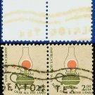 1975 USA USED Pair Scott# 1611 – $2 Kerosene Lamp– Americana 1975 - 81 Issues