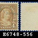 1922-25 USA USED Scott# 556 – 4c Yellow Brown Martha Washington – 1922-25 Regular Issue