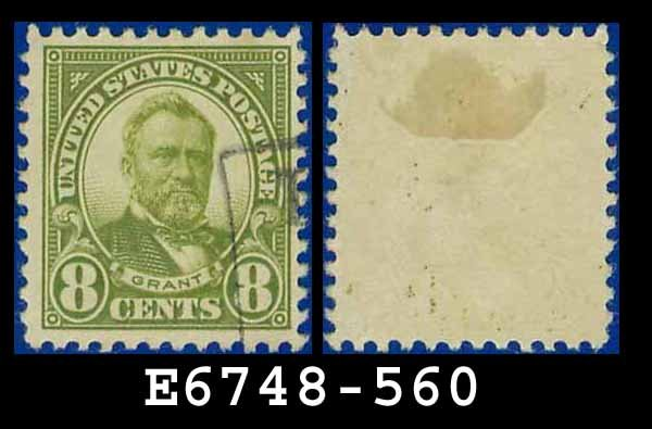 1922-25 USA USED Scott# 560 � 8c Olive Green Grant � 1922-25 Regular Issue
