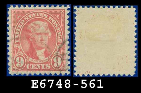 1922-25 USA USED Scott# 561 � 9c Rose Jefferson � 1922-25 Regular Issue