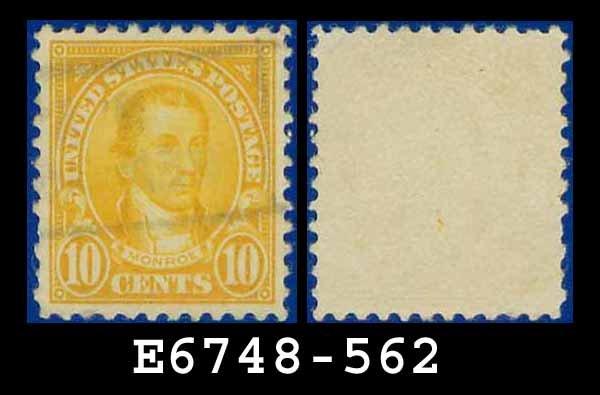 1922-25 USA USED Scott# 562 � 10c Orange Monroe � 1922-25 Regular Issue