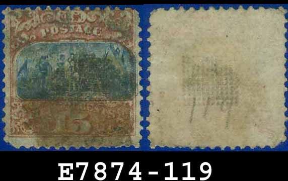 1869 USA USED Scott# 119 � 15c Landing of Columbus Type II � 1869 Pictorial Issues