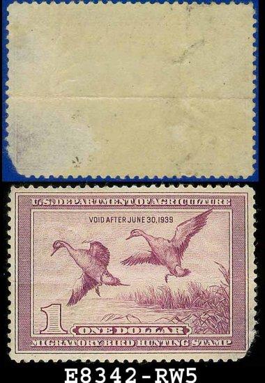 1938 USA UNUSED Scott# RW5 � $1 Pintail Drake � Duck Stamps E8342