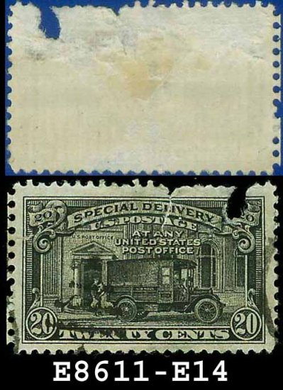 1922-25 USA USED E14 � 20c Black Post Office Truck - Special Delivery Issue