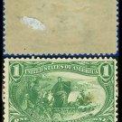 1898 USA UNUSED Scott# 285 – 1c Marquette on the Mississippi – Trans-Mississippi Series