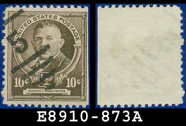 1940 USA USED 873 � 10c Brown Booker T Washington � 1940 Famous Americans Issue