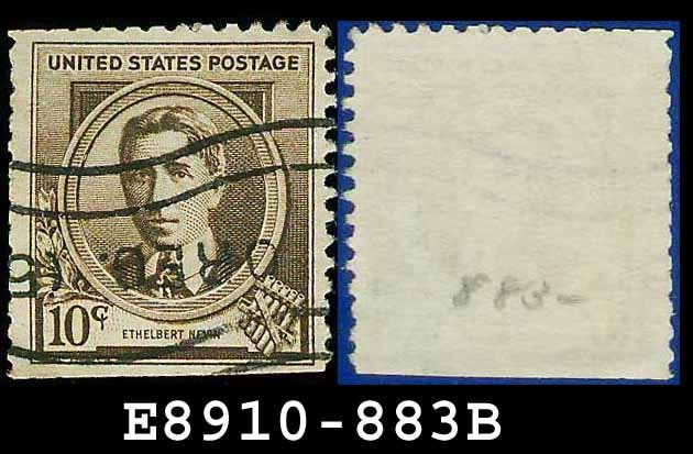 1940 USA USED 883 � 10c Brown Ethelbert Nevin � 1940 Famous Americans Issue